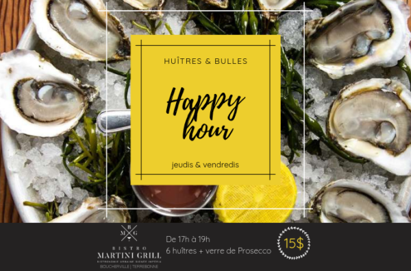 "Les ""happy hour"" au Bistro Martini Grill"