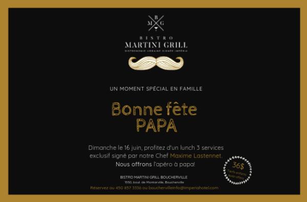 La fête des pères au Bistro Martini Grill de Boucherville
